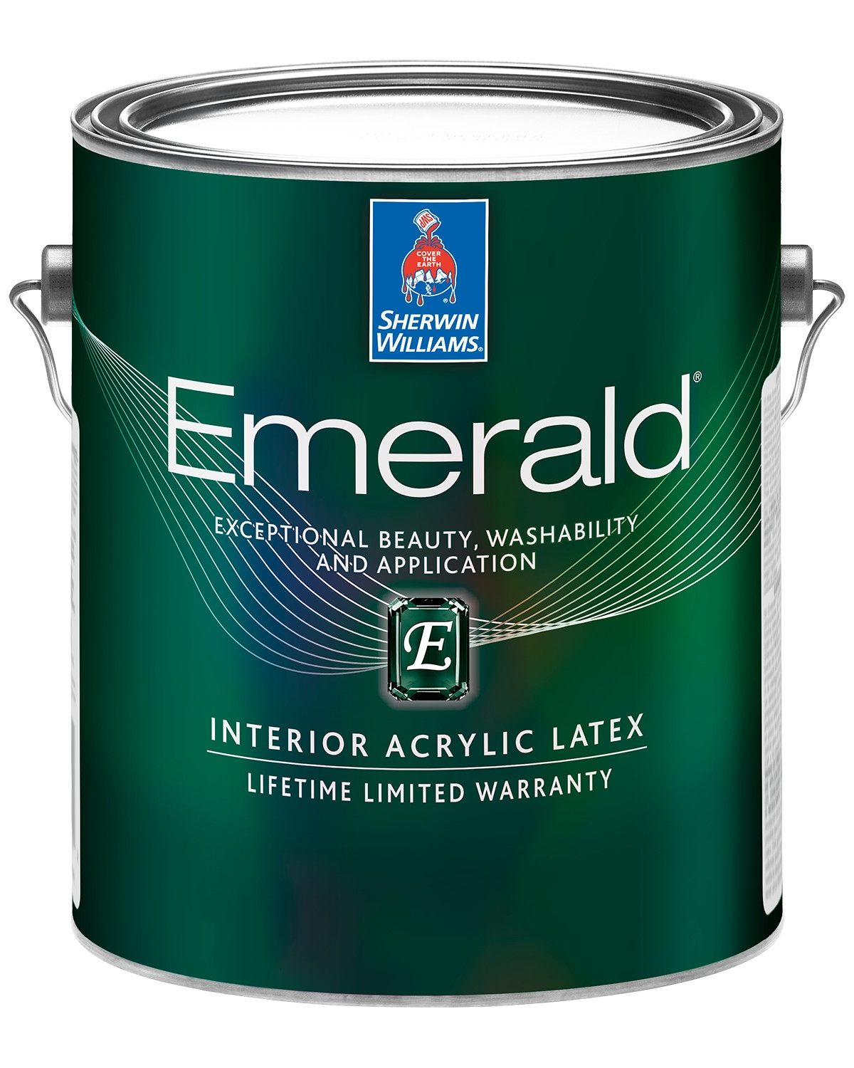 Emerald paint can