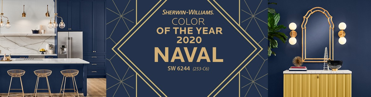 Sherwin-Williams Color of the Year 2020 Naval SW 6244