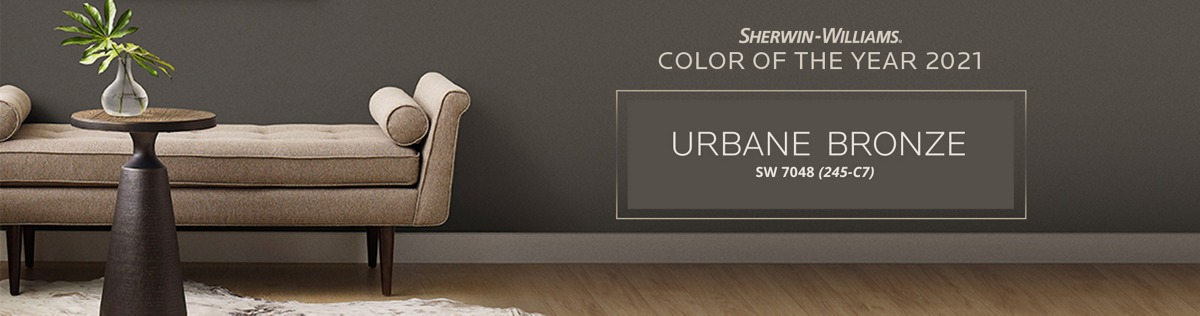 Sherwin-Williams Color of the Year 2021: Urbane Bronze SW 7048 (245-C7)