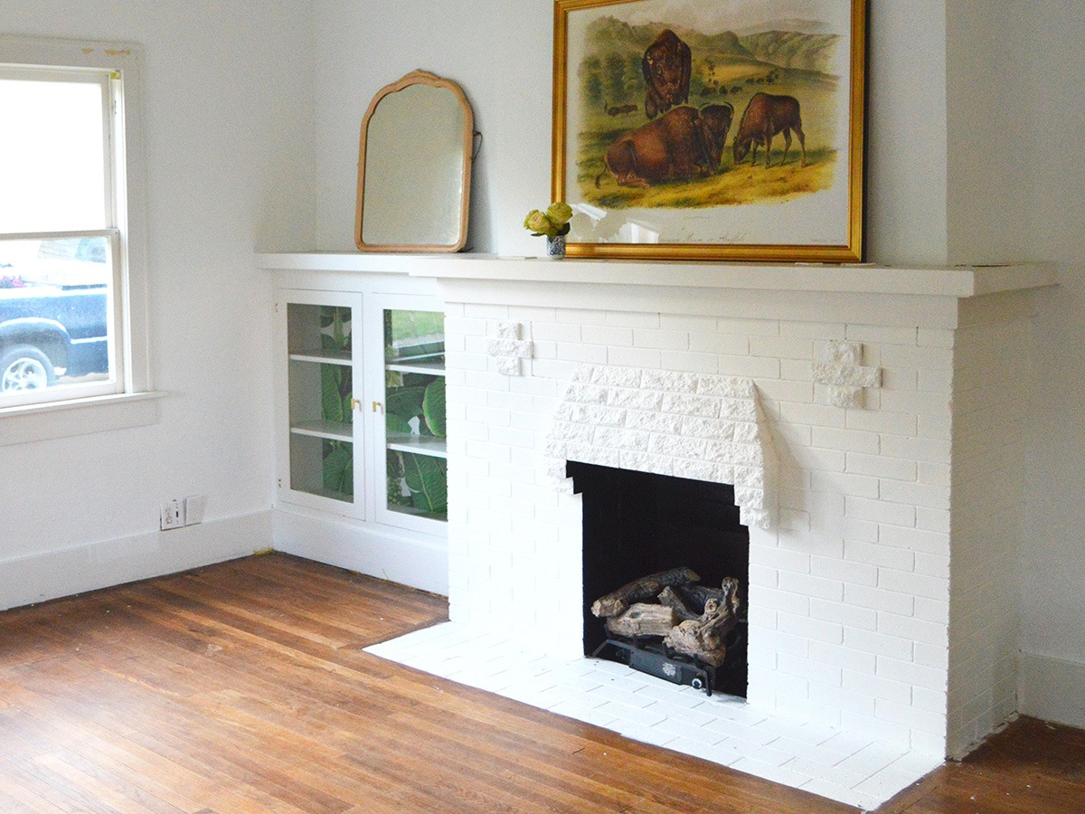 how to paint a brick fireplace from sherwin williams