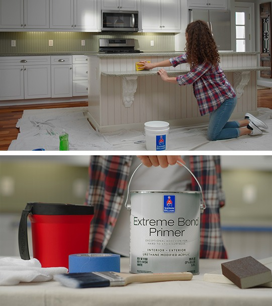 How To Paint Your Kitchen Cabinets In 5, What Kind Of Primer Do You Use On Kitchen Cabinets