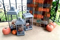 Haunted Porch Scene