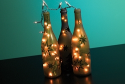 Festive Wine Bottle Lights