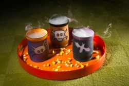 Halloween votive spray paint project