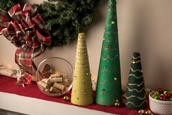 Craft foam cone holiday trees project
