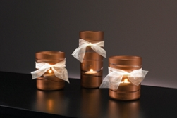 Wedding votive spray paint project