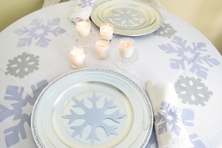 Winter Wonderland Table Settings — Romantic Dinner for Two