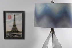 Ombre lampshade spray paint project