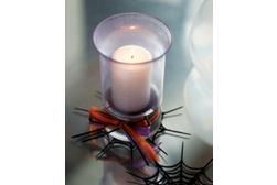 Sparkling Purple and Black Halloween Vase