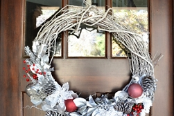 Holiday Texture Grapevine Wreath