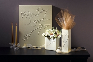 Wedding Themed Canvas and Vases