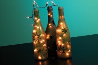 Festive Wine Bottle Lights