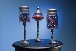 Patriotic Pedestal Jar