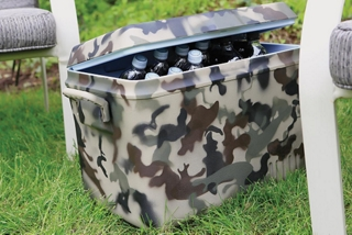 Plastic Cooler featuring Camouflage Paint made with Fusion for Plastic®
