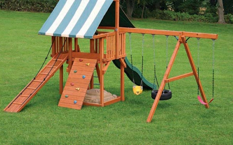 Backyard playset project outdoor spray paint projects krylon - Paint exterior wood set ...