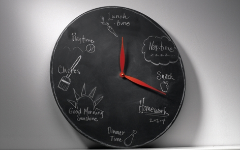 Chalkboard Clock spray paint project