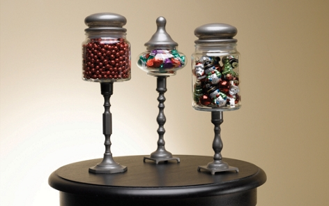 Christmas Pedestal Jars Project