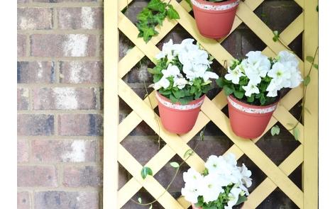 Lattice Flower Wall