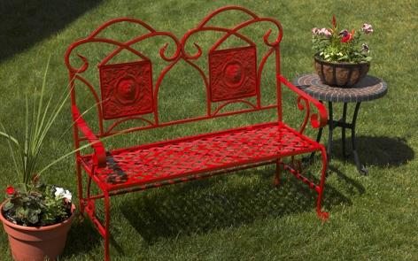 Refurbished Metal Garden Bench