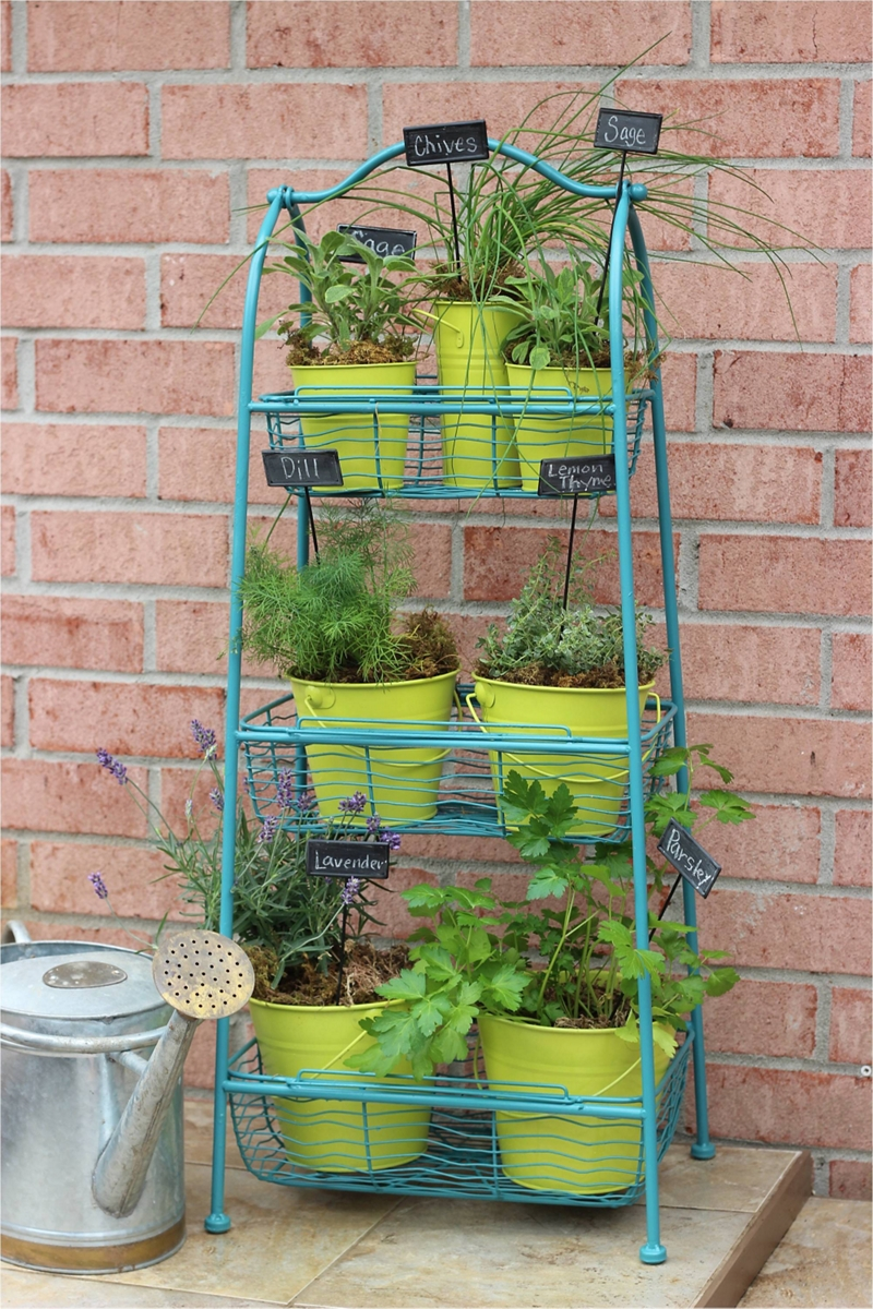 herb garden plant stand furniture spray paint projects