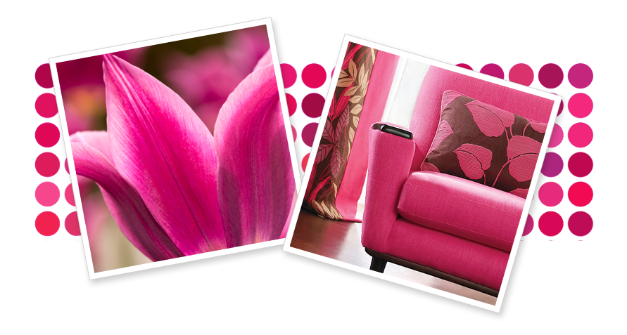 Pink spray paint