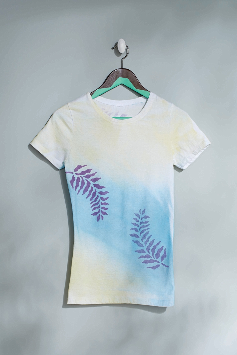 leaf t shirt project fabrics fashion accessories spray. Black Bedroom Furniture Sets. Home Design Ideas