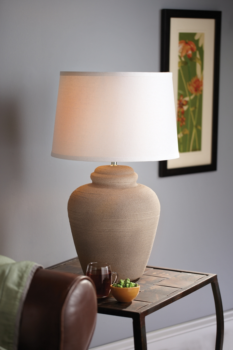Fine stone lamp project home d cor paint projects krylon for Stone spray paint projects