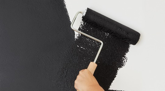 Paint A Matte Black Accent Wall