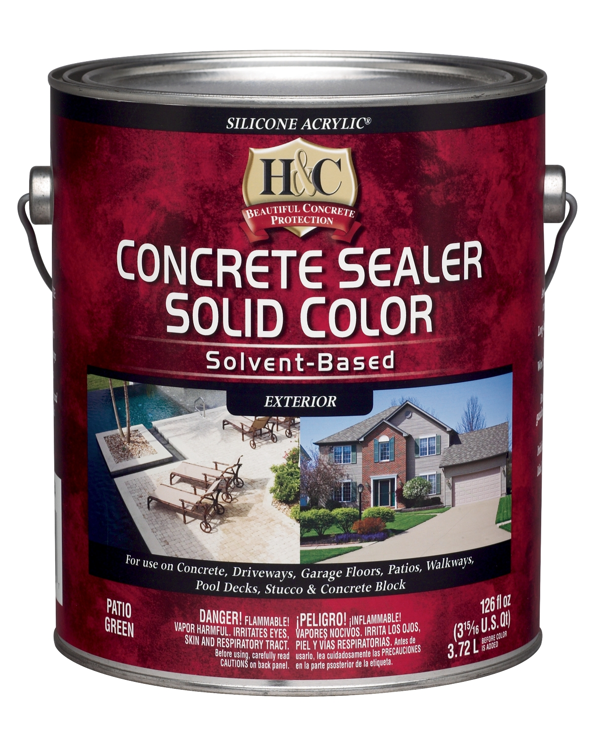 H&C® Concrete Sealer Solid Color Solvent-Based