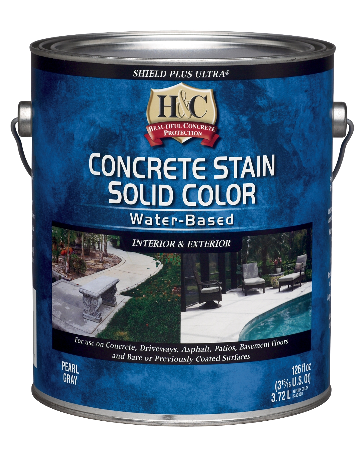 H&C® Concrete Stain Solid Color Water-Based