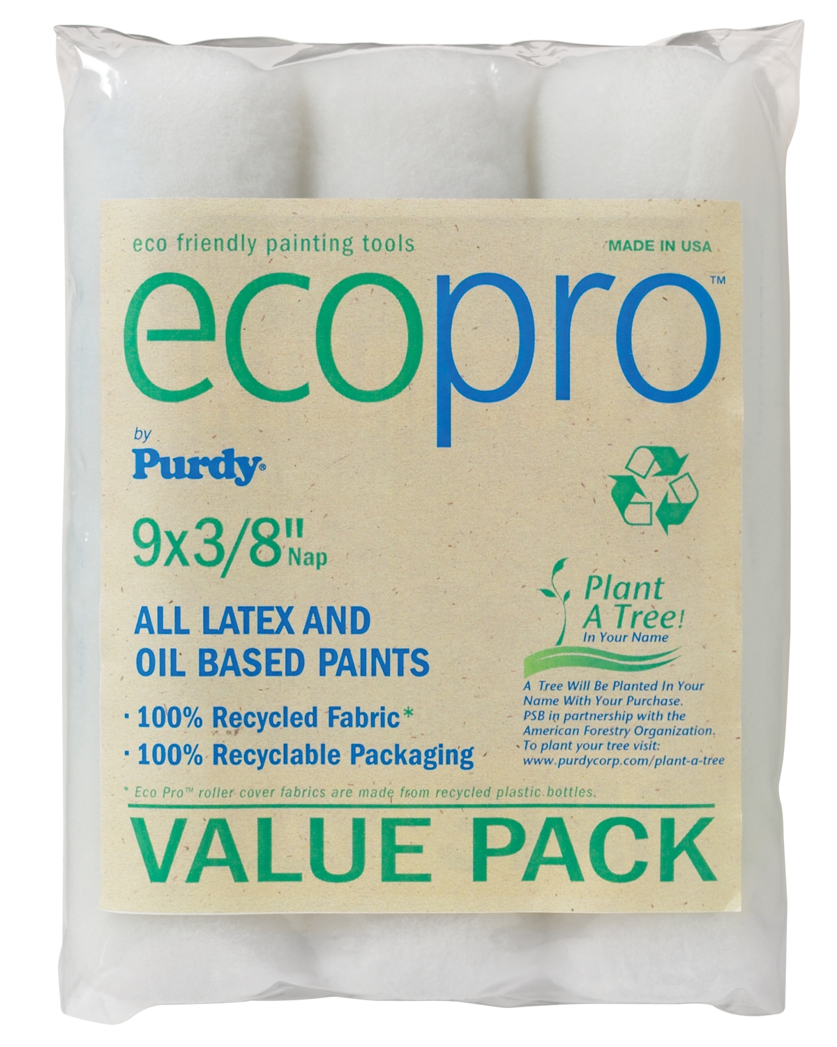 Purdy® EcoPro™ Roller Cover 3-Pack