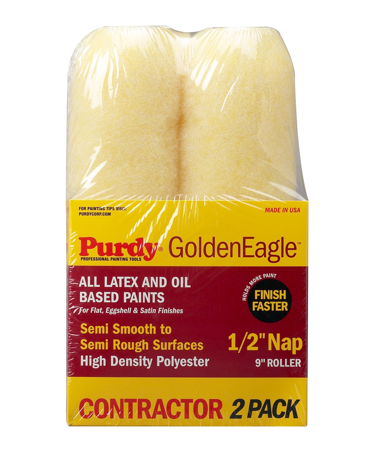 "Purdy® Golden Eagle™ 9"" Roller Cover 2-pack - 1/2"" nap"