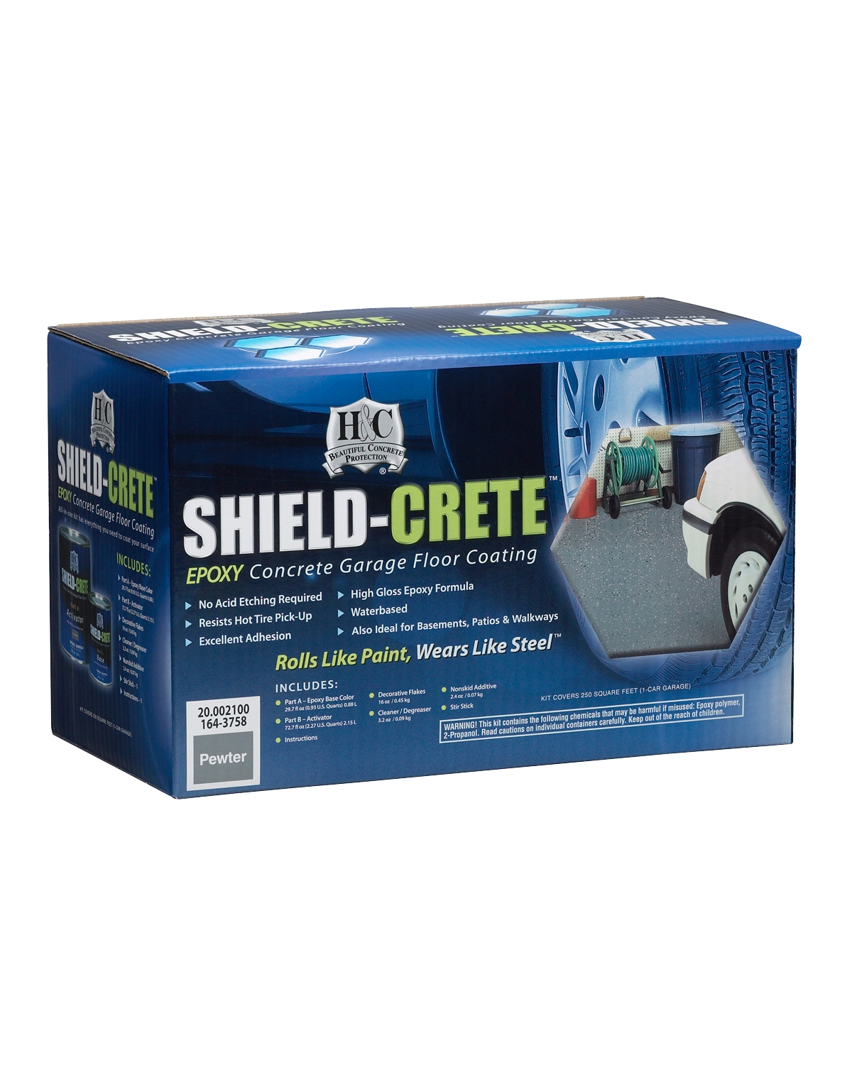 H&C® Shield-Crete® Epoxy Concrete Floor Coating