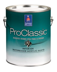 Proclassic interior waterbased acrylic alkyd enamel contractors sherwin williams for Advance waterborne interior alkyd