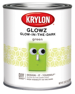 safety try fast and easy glowz glow in the dark paint for night time. Black Bedroom Furniture Sets. Home Design Ideas
