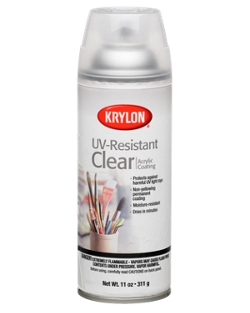 pbl coating safe to use on krylon uv spray clear