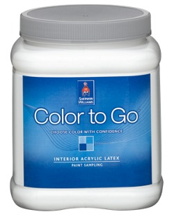 color to go paint sample homeowners sherwin williams