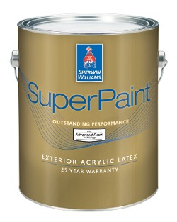 sherwin williams superpaint exterior acrylic latex paint. Black Bedroom Furniture Sets. Home Design Ideas