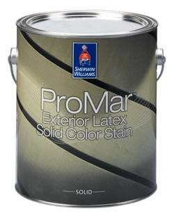 Promar Exterior Solid Color Acrylic Latex Stain Contractors Sherwin Williams