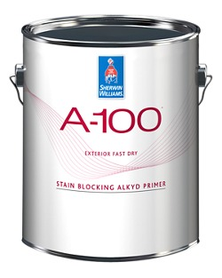 A 100 Exterior Fast Dry Stain Blocking Alkyd Wood Primer Homeowners Sherwin Williams