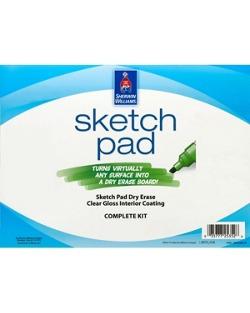 Sketch pad dry erase coating homeowners sherwin williams for Sherwin williams dry erase paint review