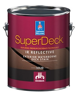 superdeck ir reflective exterior waterborne solid color stain. Black Bedroom Furniture Sets. Home Design Ideas