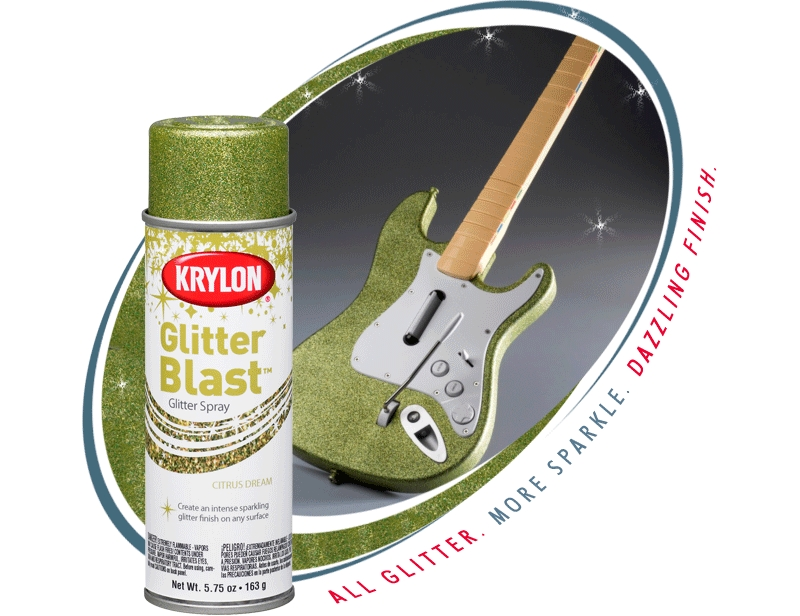 krylon glitter blast glitter spray paint krylon. Black Bedroom Furniture Sets. Home Design Ideas