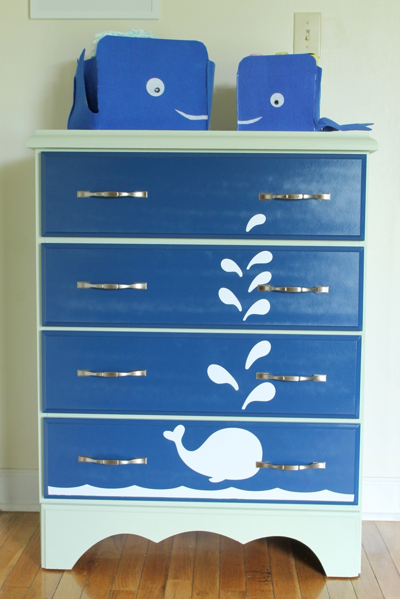 whale painted dresser furniture spray paint projects. Black Bedroom Furniture Sets. Home Design Ideas
