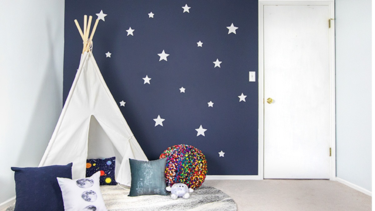 How To Create A Starry Night Sky Accent Wall