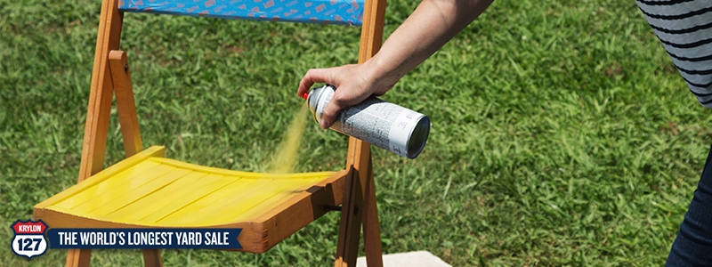An old chair transformed with Krylon<sup>®</sup> spray paint