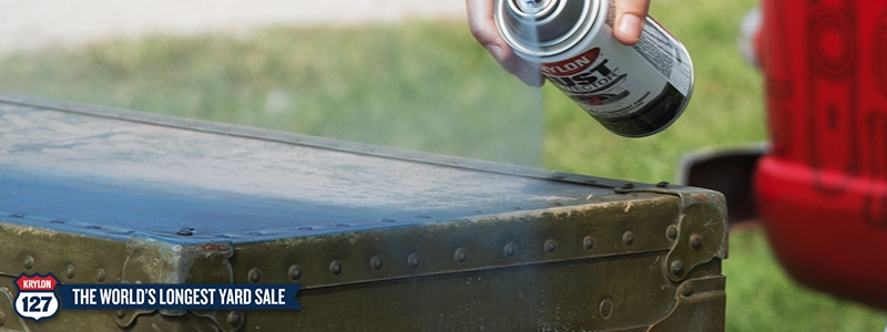 Krylon® spray paint gives a fresh look to an old trunk