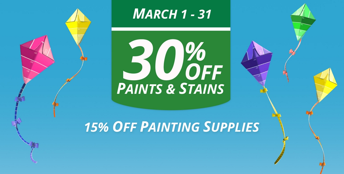 National Coupon Event: March 1 - 31