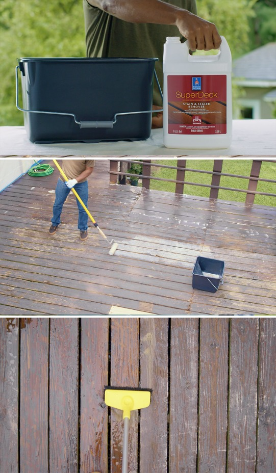 How To Prep And Stain An Old Deck