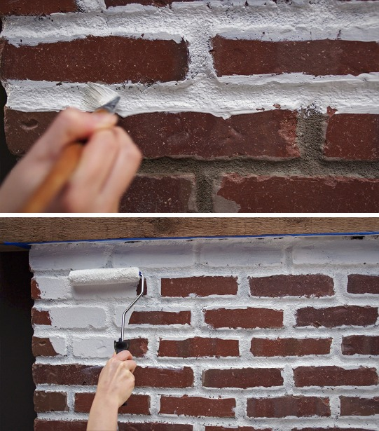 How to Paint a Brick Fireplace | Fireplace Makeover